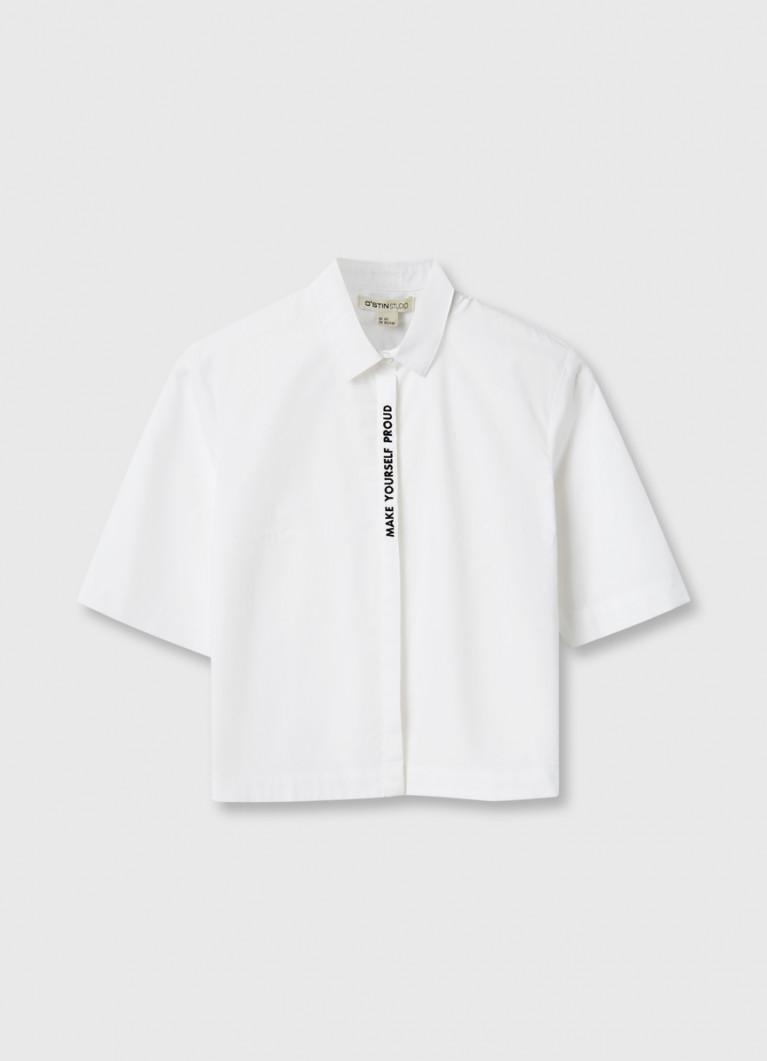 Хлопковая рубашка с вышивкой