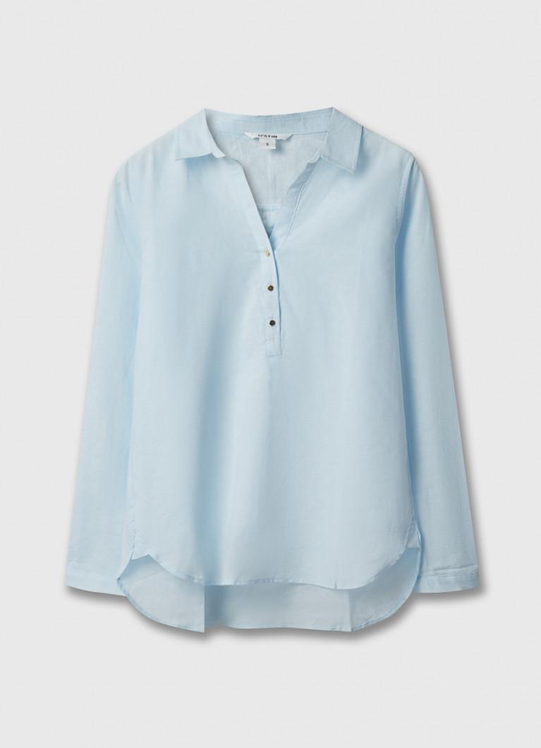 Блузка-туника изо льна с хлопком