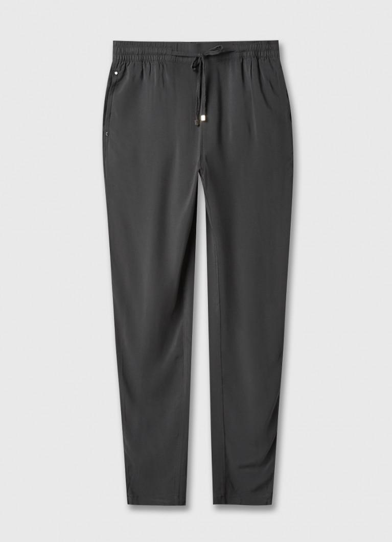 Вискозные брюки-багги