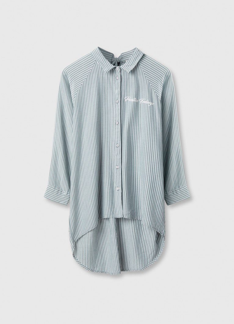 Объёмная рубашка в полоску