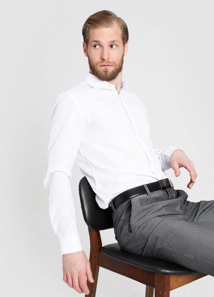 Рубашка из структурной ткани с микрорисунком фото