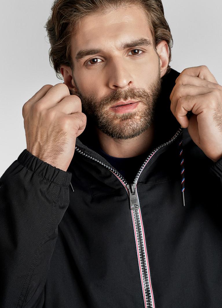 Куртка с контрастной фурнитурой