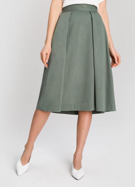 Структурная юбка А-силуэта фото