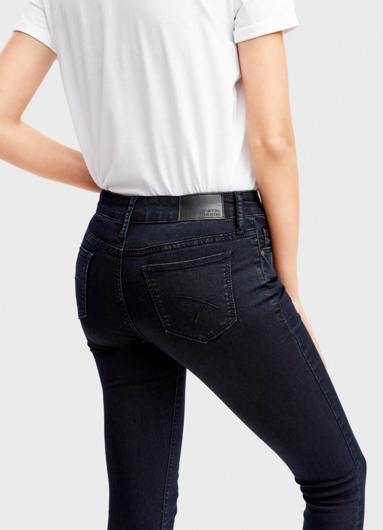 Суперузкие джинсы со средней посадкой