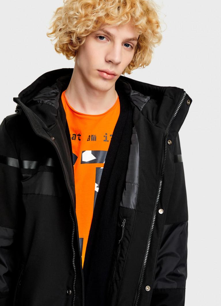 Куртка из комбинированной ткани