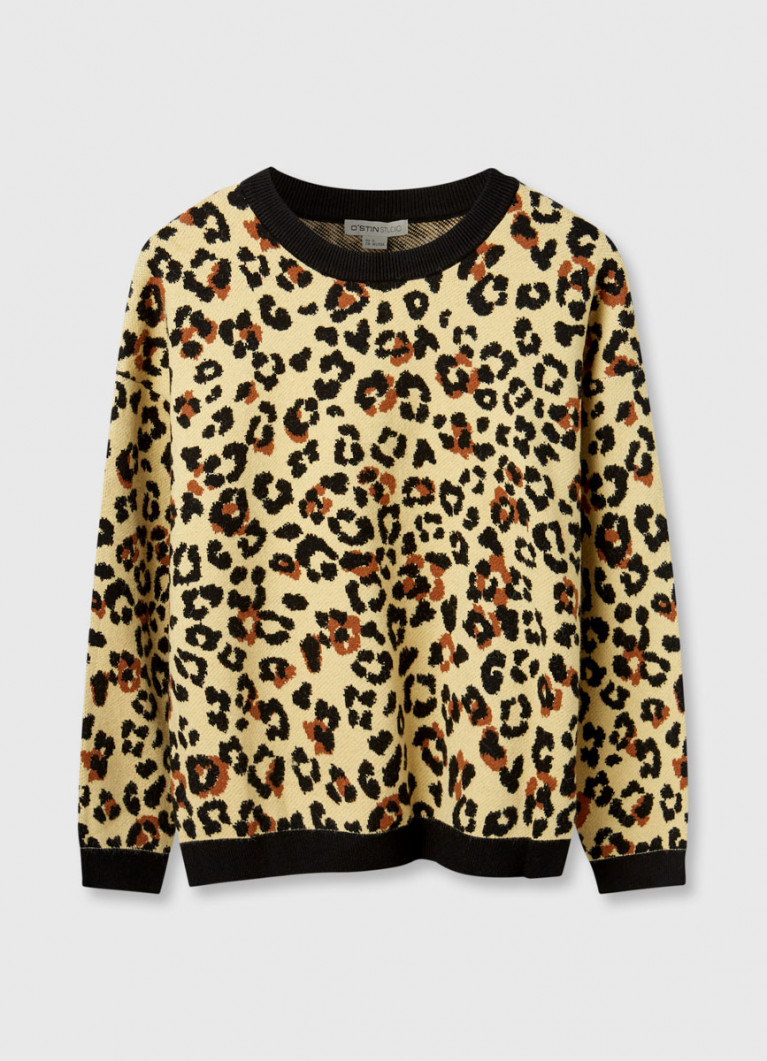 Джемпер в леопардовый принт