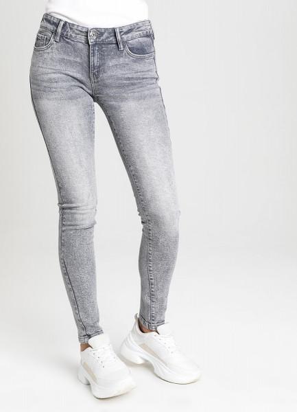 Суперузкие светло-серые джинсы