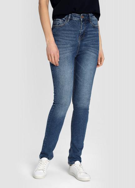 Узкие премиум-джинсы с высокой посадкой фото