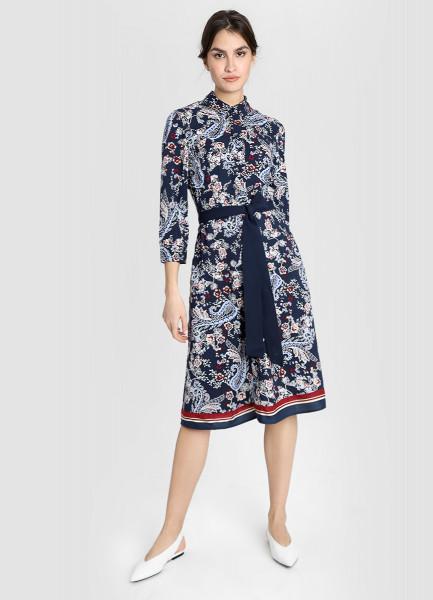 Платье из модала с платочным принтом