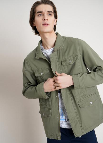 Куртка из хлопка в стиле сафари
