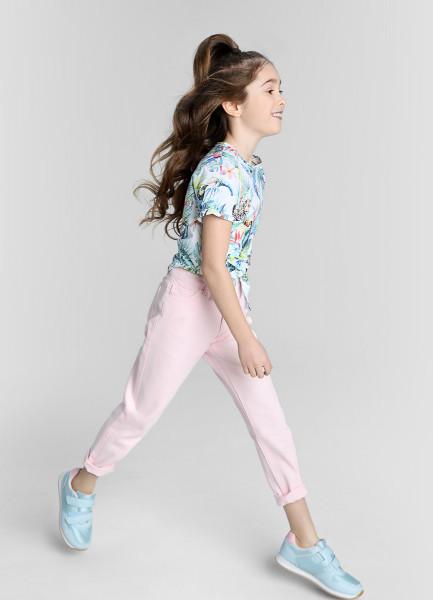 Свободные розовые джинсы фото