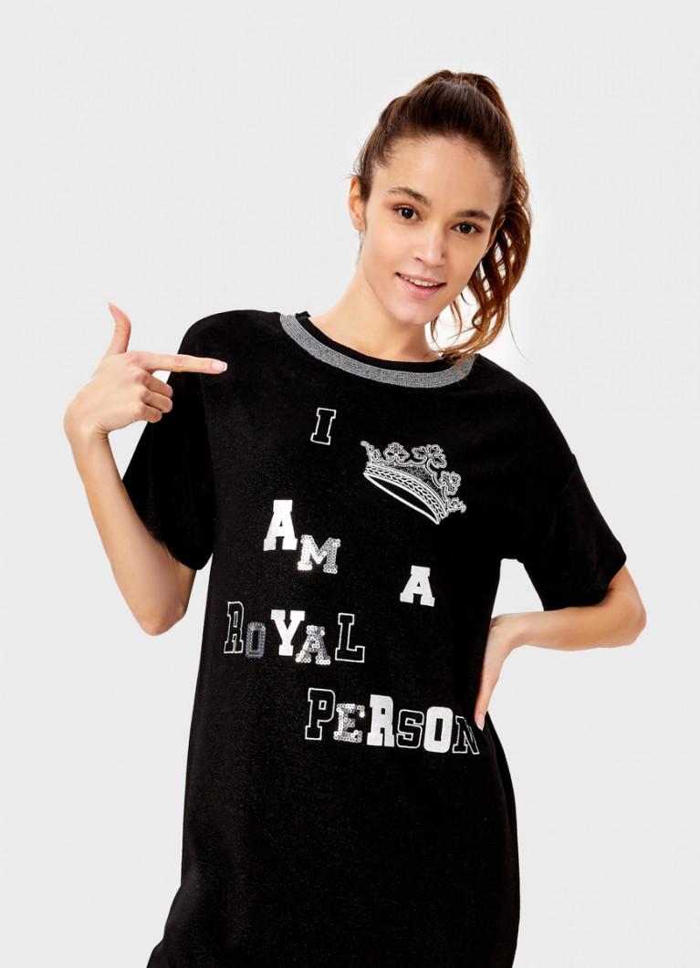 Платье-футболка с принтом