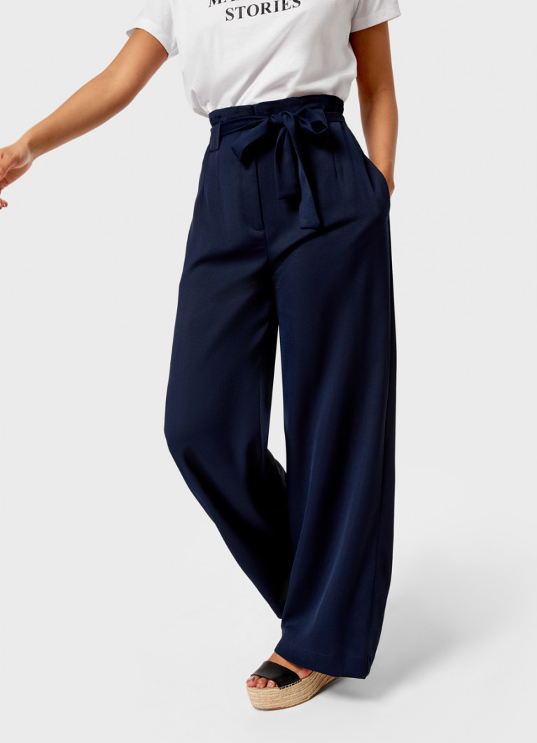 Широкие брюки из структурного полотна