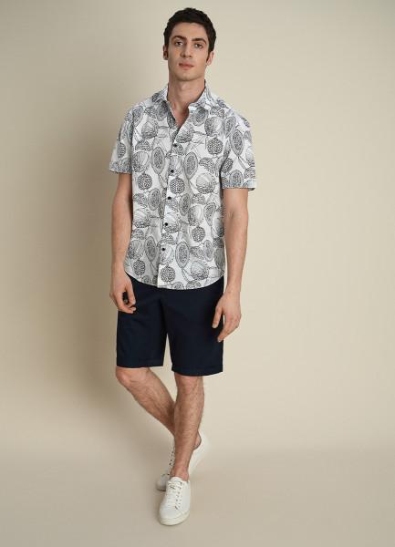 Рубашка из хлопка с цветочным принтом