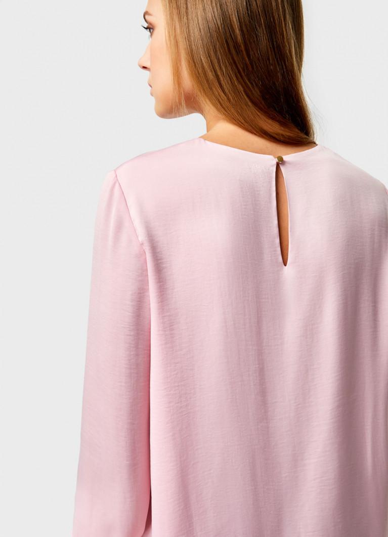 Двухслойная блузка из сатина