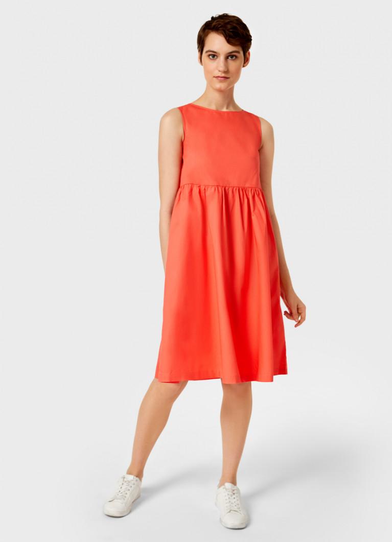 Хлопковое платье с завышенной талией