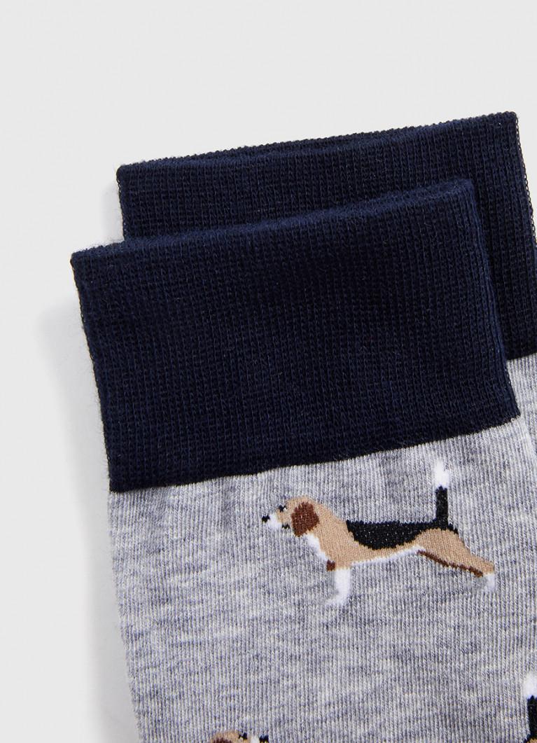Носки с жаккардом «собаки»