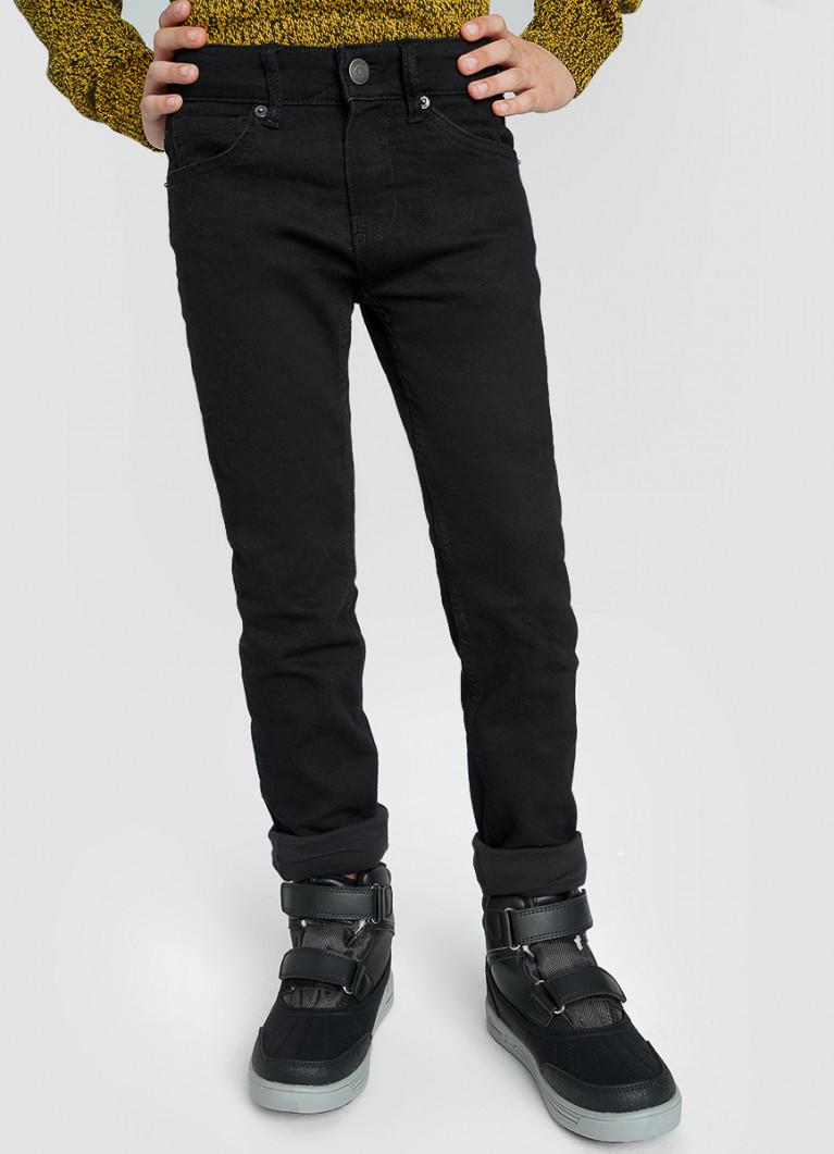 Базовые джинсы на трикотажной подкладке для мальчиков