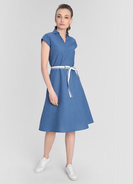 Платье из ткани под деним