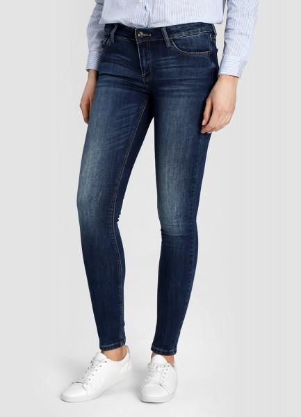 Суперузкие тёмно-синие джинсы фото