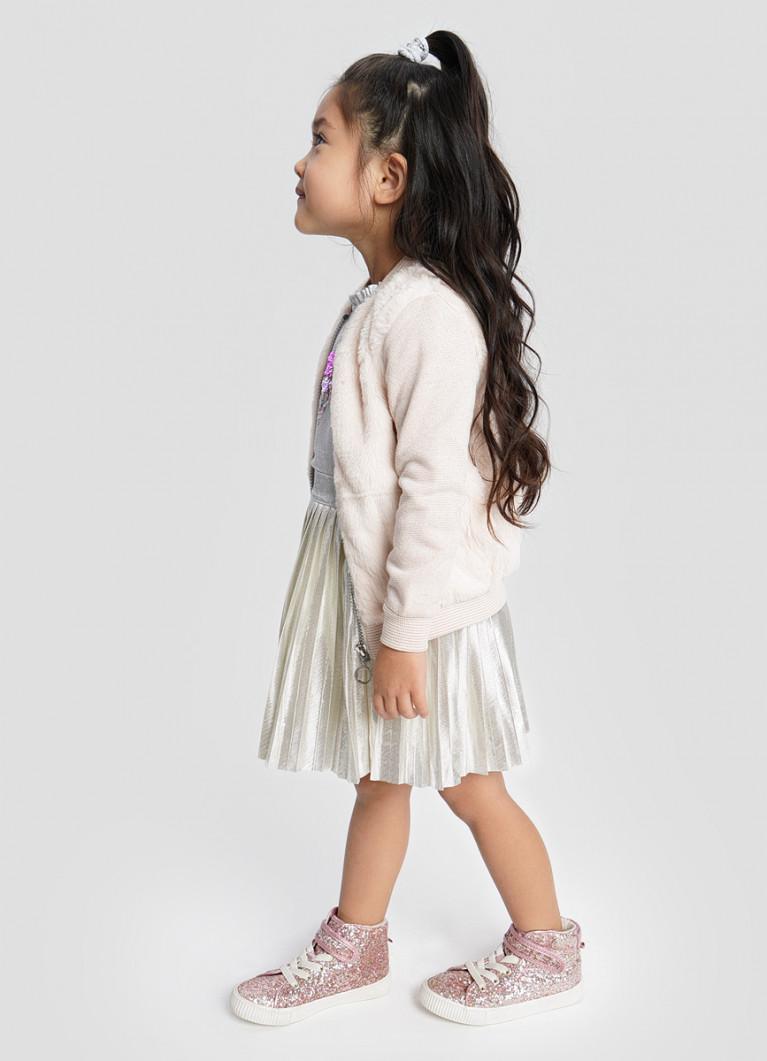 Трикотажная куртка для девочек