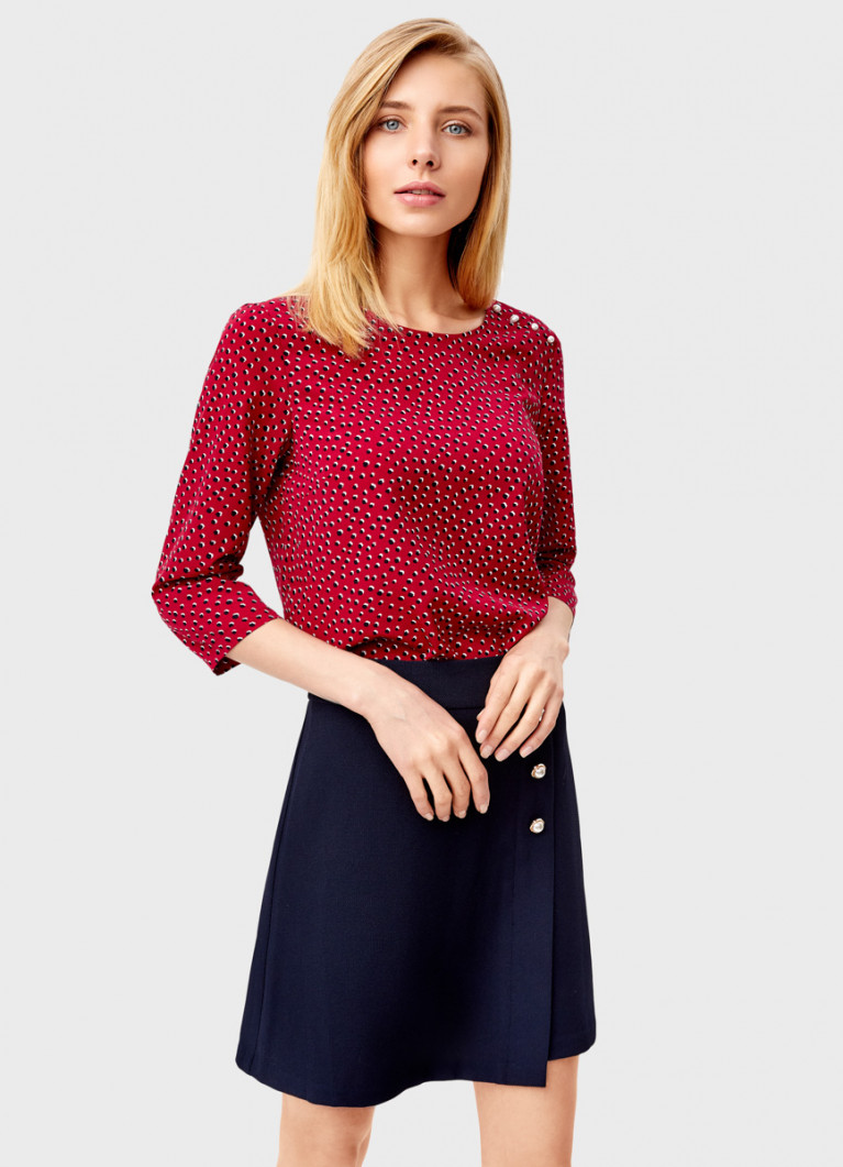 Принтованная блузка