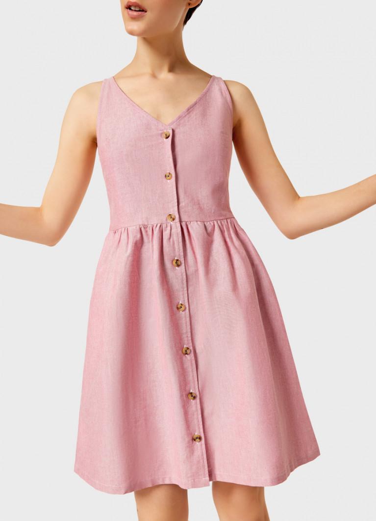 Платье из хлопка на пуговицах