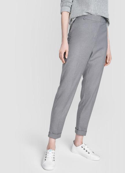 Прямые брюки с подворотами