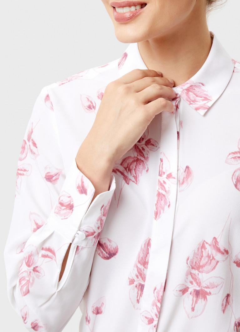Блузка из крепа в цветочный принт