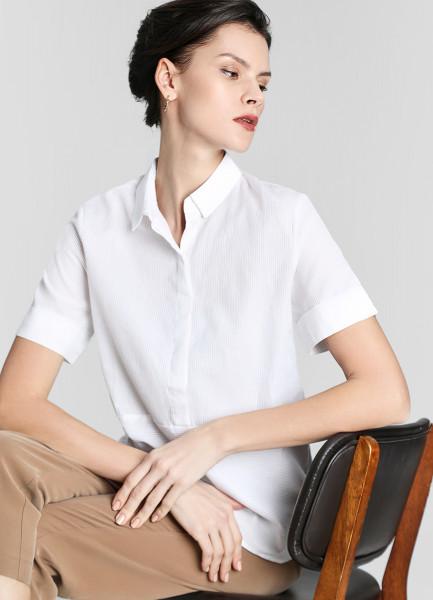 Рубашка из структурного хлопка фото