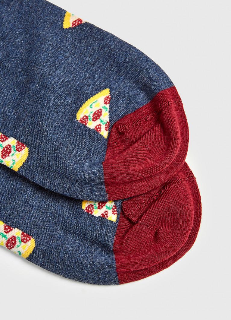 Носки с жаккардом «пицца»