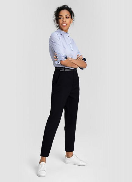 Жаккардовые брюки с поясом