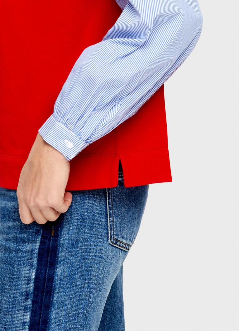 Джемпер с рукавами в полоску