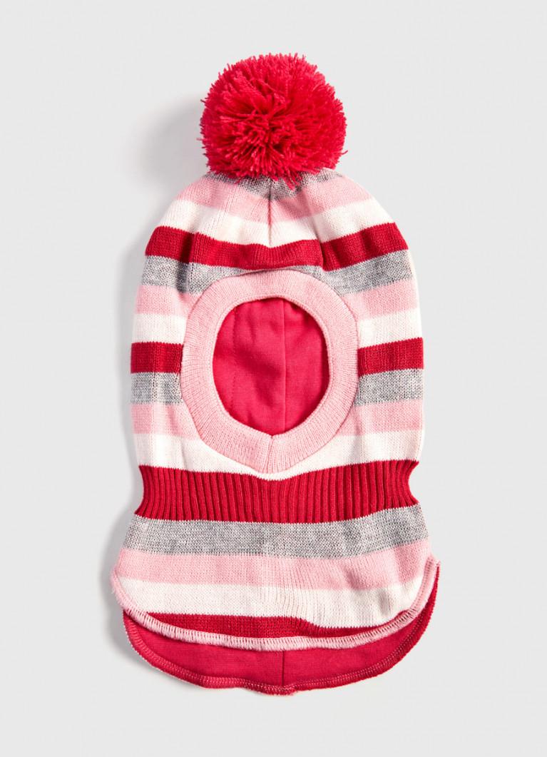 Шапка-шлем с помпоном для девочек