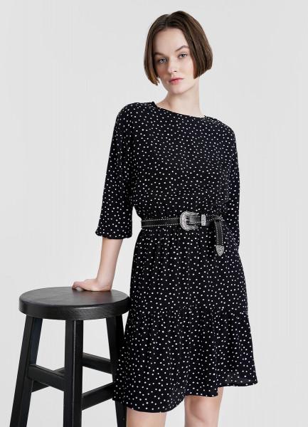Вискозное принтованное платье