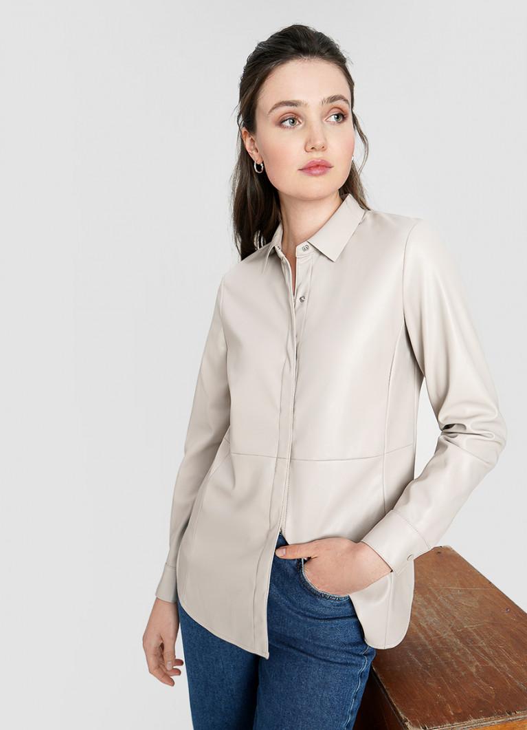 Рубашка из искусственной кожи