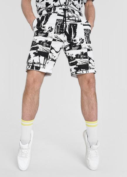 Базовые принтованные шорты из хлопка