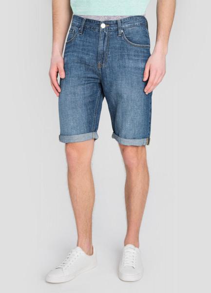 Льняные джинсовые шорты