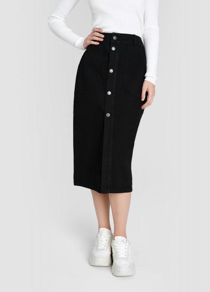 Денимная юбка с пуговицами