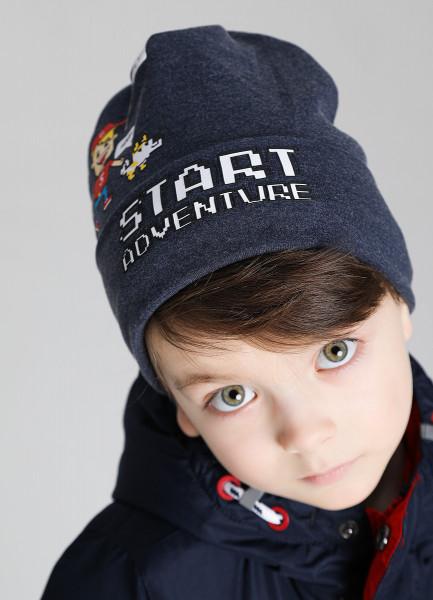 Двухсторонняя шапка для мальчиков фото