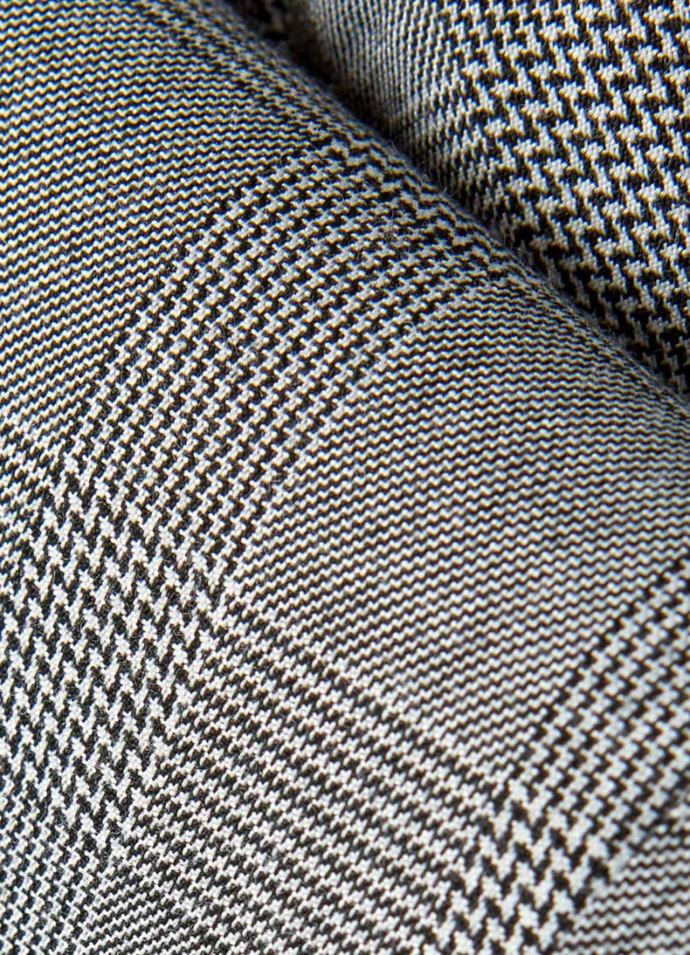 Поливискозные брюки в клетку