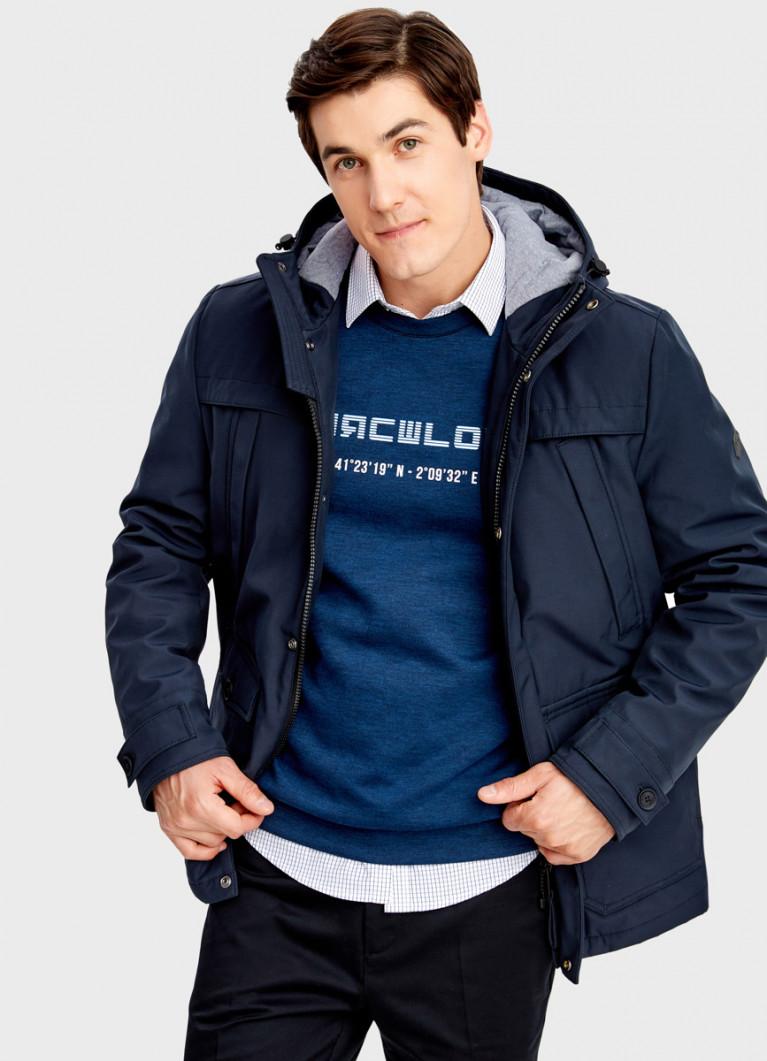 Утеплённая куртка с капюшоном