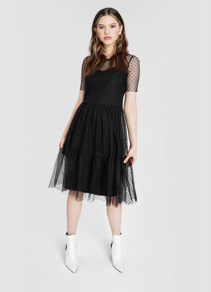 Платье миди из сетки