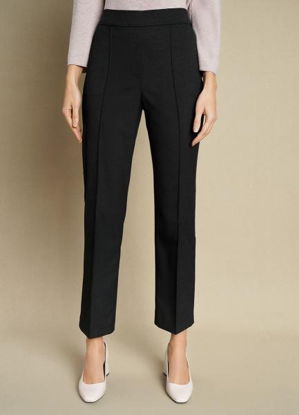 Прямые брюки из поливискозы с эластичным поясом