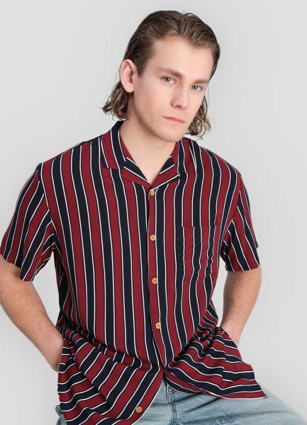 Рубашка из вискозы с принтом фото