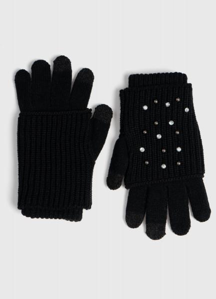 Двухслойные перчатки для девочек