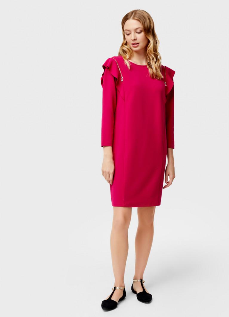 Платье с декоративными молниями