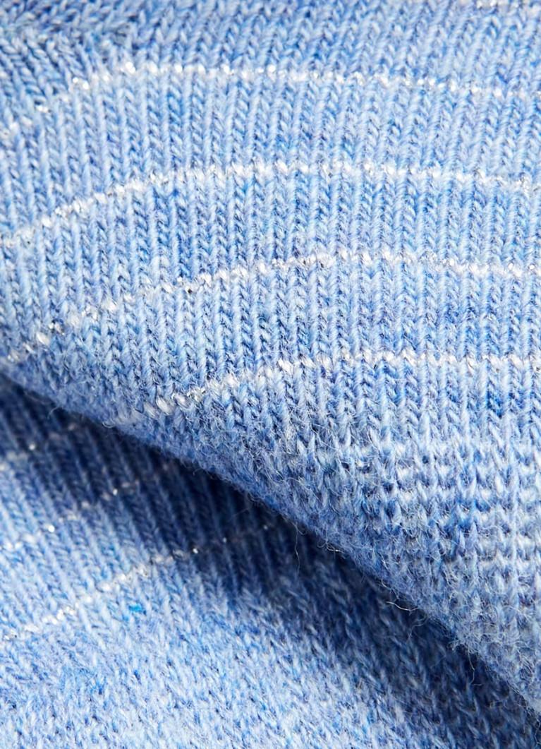 Короткие носки с полосками из люрекса