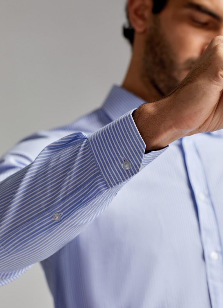 Рубашка из ткани в полоску