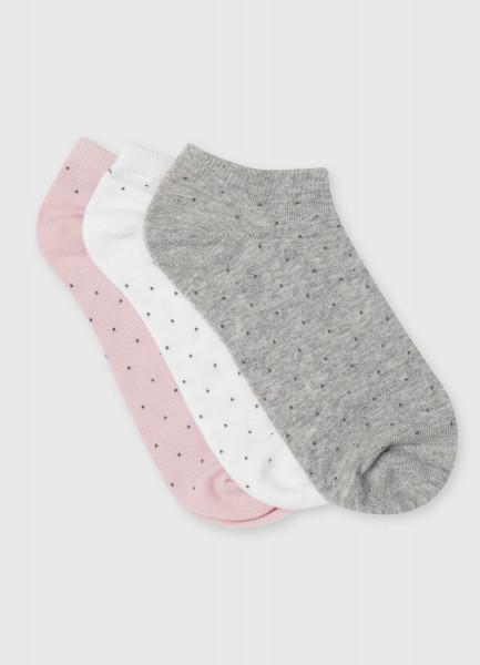 Короткие носки с жаккардом «горох»